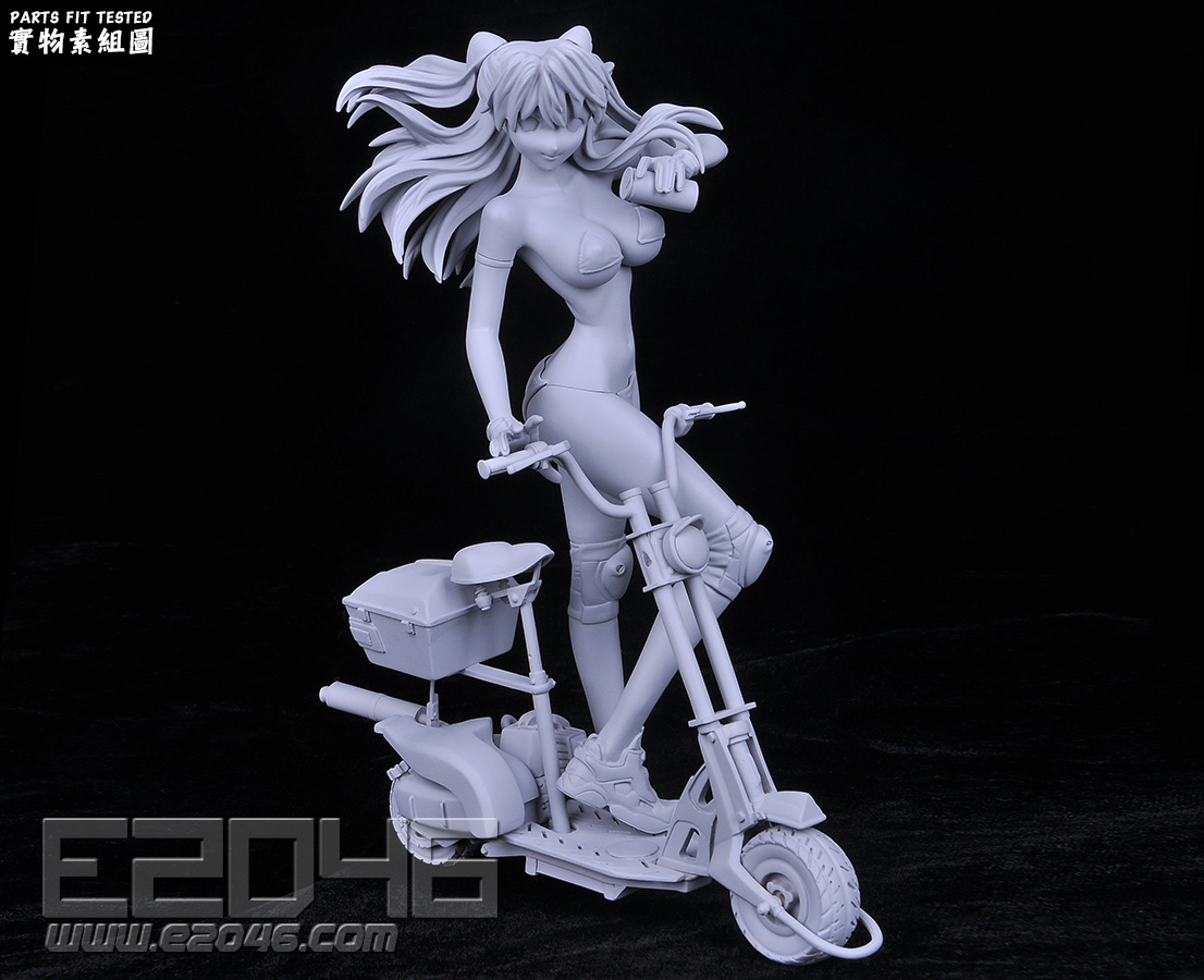 Asuka with Electric Scooter
