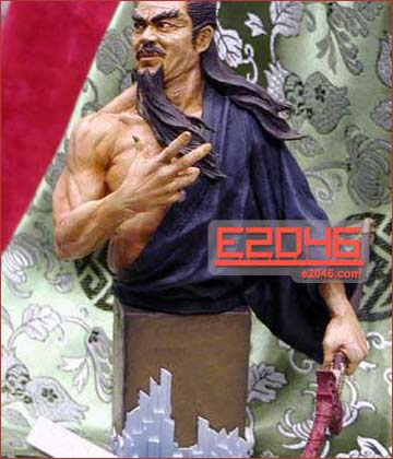 Chinese Swordman Bust
