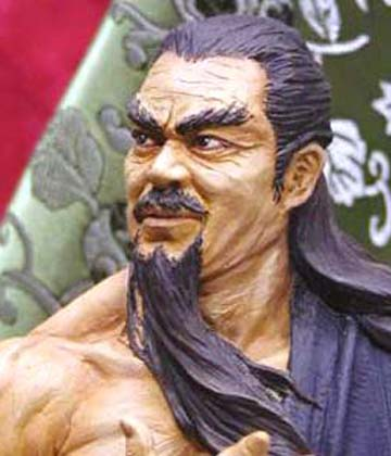 Chinese Swordman Bust