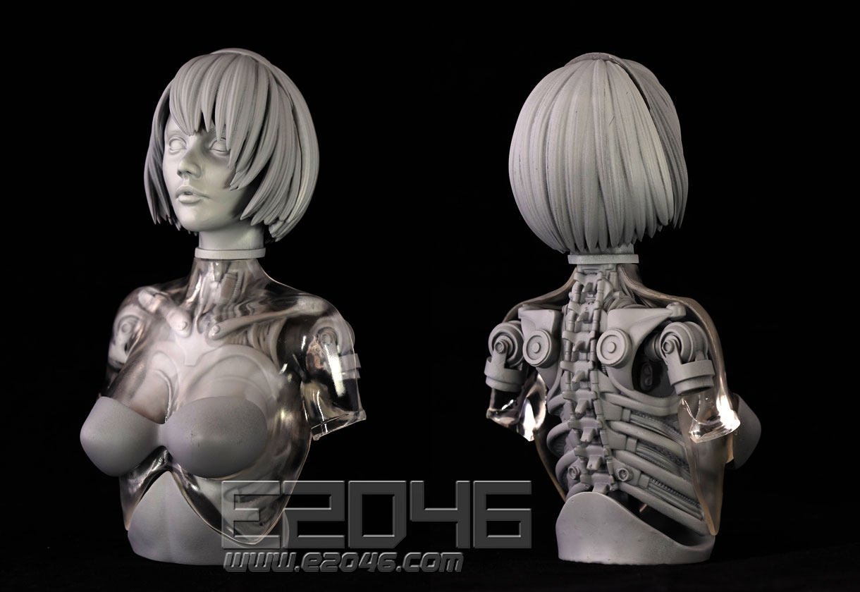 Mechanical Girl Bust