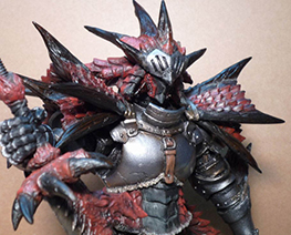 FG5739  Rathalos Armor Hunter with Dragon Sword