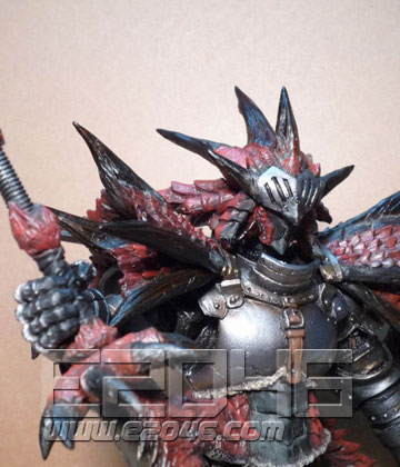 Rathalos Armor Hunter with Dragon Sword