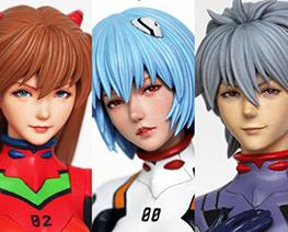 FG12484 1/8 Asuka & Kaworu & Rei