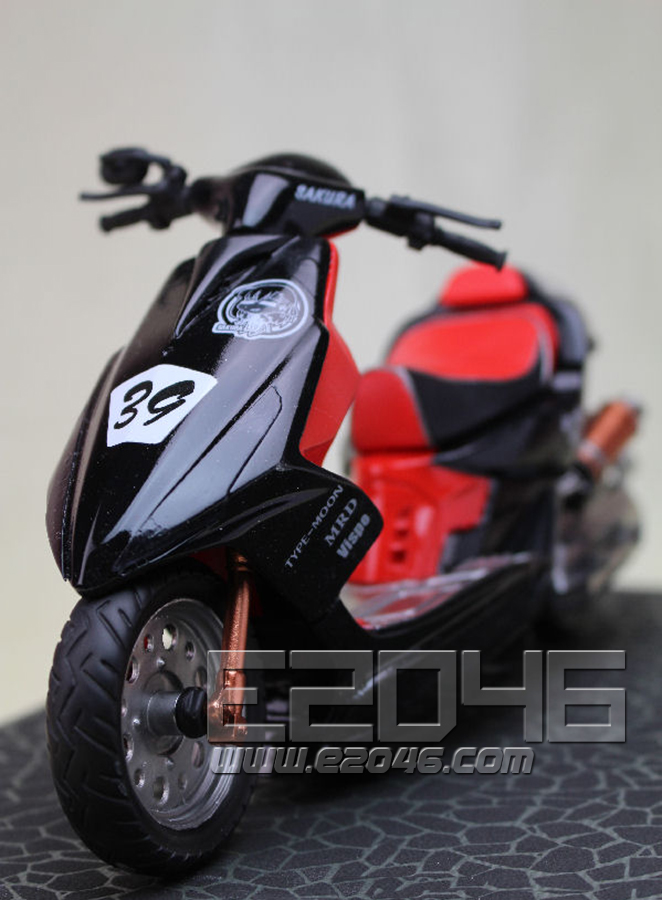 Mato Sakura with Motorcycle