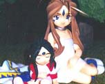 FG0673  Belldandy & Skuld Child Set