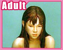 FG1065 1/6 Long Hair Nude Girl Sitting