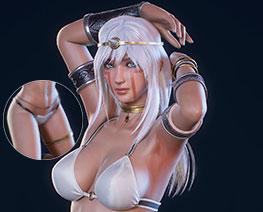 FG12143  古代部落女神
