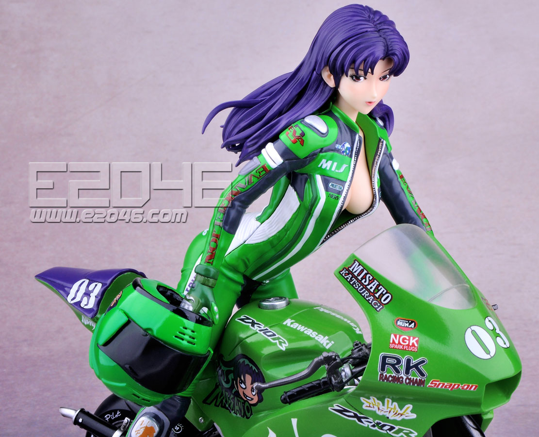 Misato with Motorcycle