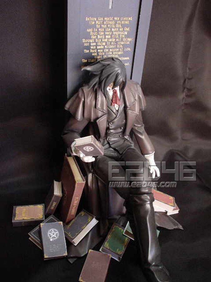 Alucard Surrounding with Books