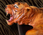 FG6678  Tiger Decal Display Base