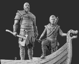 FG12201 1/16 Kratos & Atreus