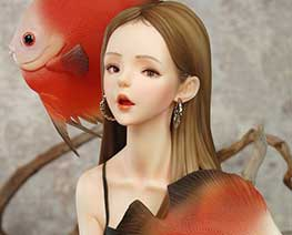 FG11638  Discus Fish Girl