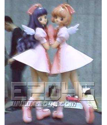 Sakura and Tomoyo nurse dress