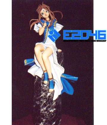 Belldandy Sitting on Pillar