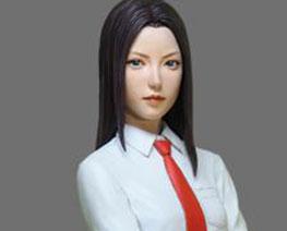 FG10760 1/8 High school girl & Shiba Inu