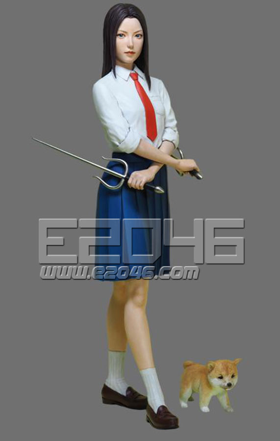 High school girl & Shiba Inu