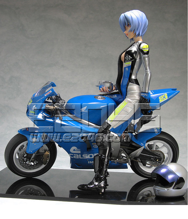 Rei Ayanami with Motorcycle