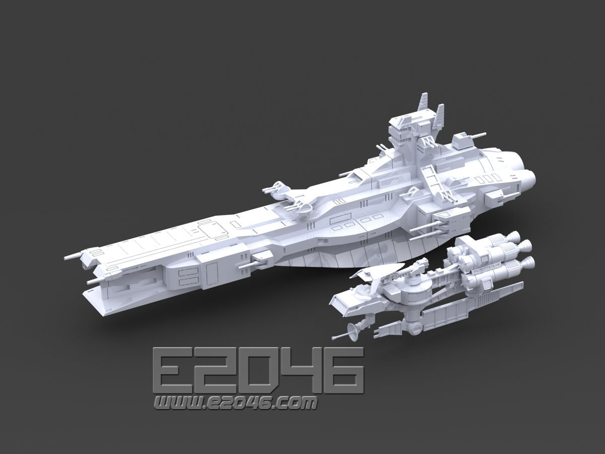 Salamis Kai Class Cruiser & Space Battleship