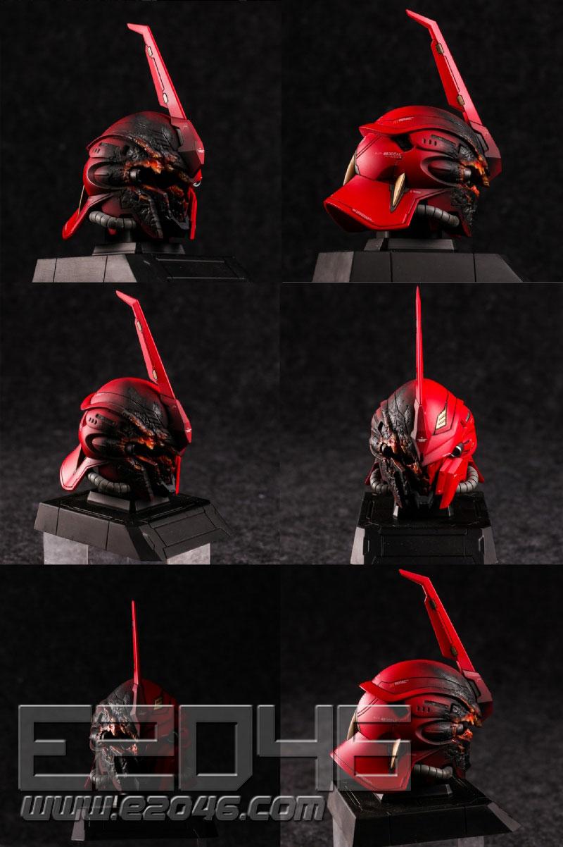 Sazabi & Sinanju & Damaged Sinanju Head Set