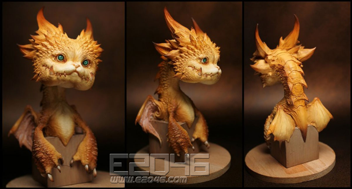 Youth Dragon Bust