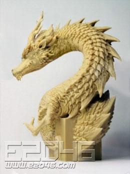 Oriental Dragon Bust
