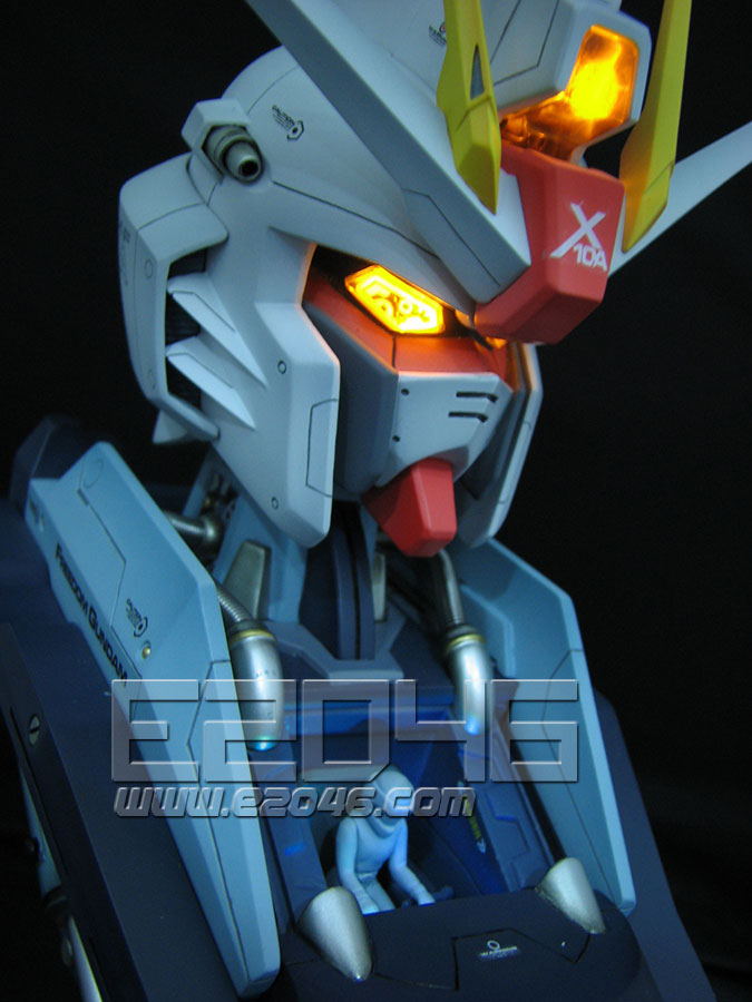 LED Freedom Gundam Bust