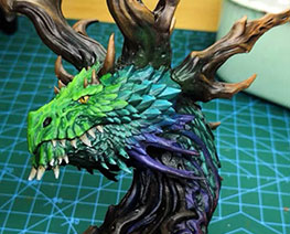 RT3484  Forest Dragon Bust