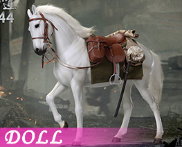 DL4307 1/6 White War Horse (DOLL)