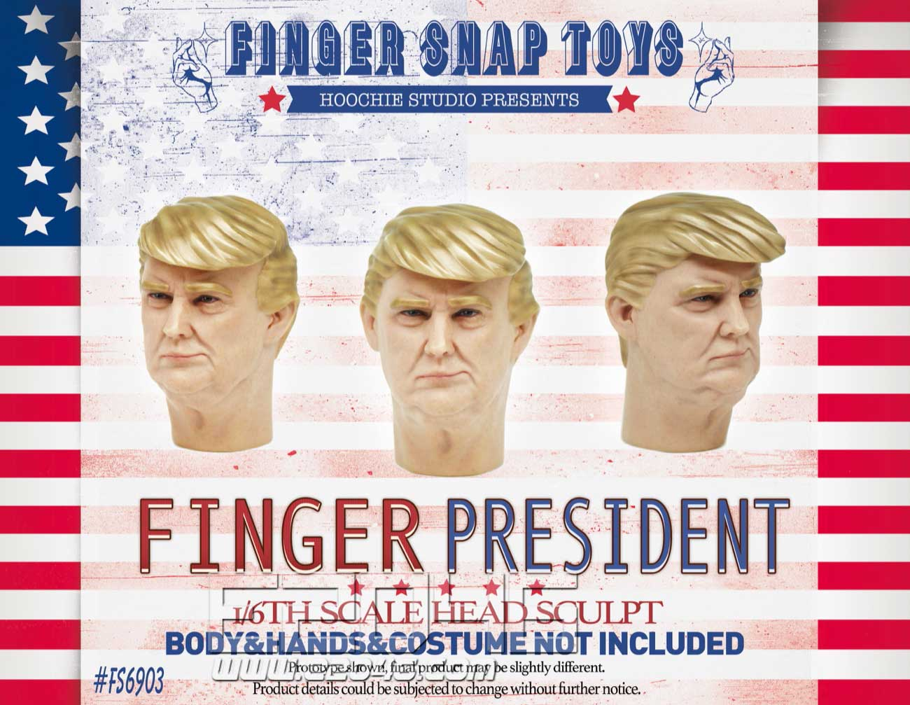 手指总统 头雕 (人偶)