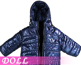 DL3411 1/6 Hoodie Long Down Coat Light Dark Blue (DOLL)