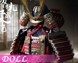 DL2196 1/6 金漆塗切付札紅威大鎧 (人偶)