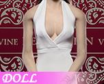 DL0520 1/6 高級定製版女式性感掛脖低胸連衣裙套裝 C (人偶)