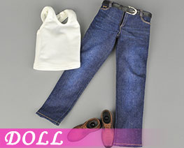 DL2135 1/6 Sports Vest Jeans Suit A (DOLL)