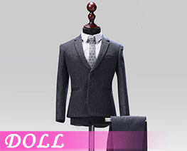 DL1844 1/6 Male Western-style Clothes Striped Suit C (DOLL)