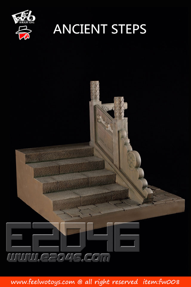 Ancient Steps With Carve Patterns Brown Rigeht (DOLL)