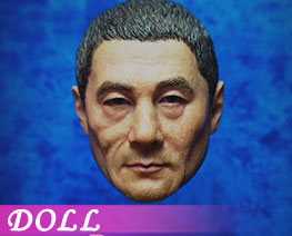 DL2604 1/6 Samurai Head Black Hair D1 (DOLL)