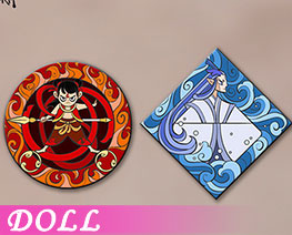 DL2855  Alloy Enamel Badge B (DOLL)