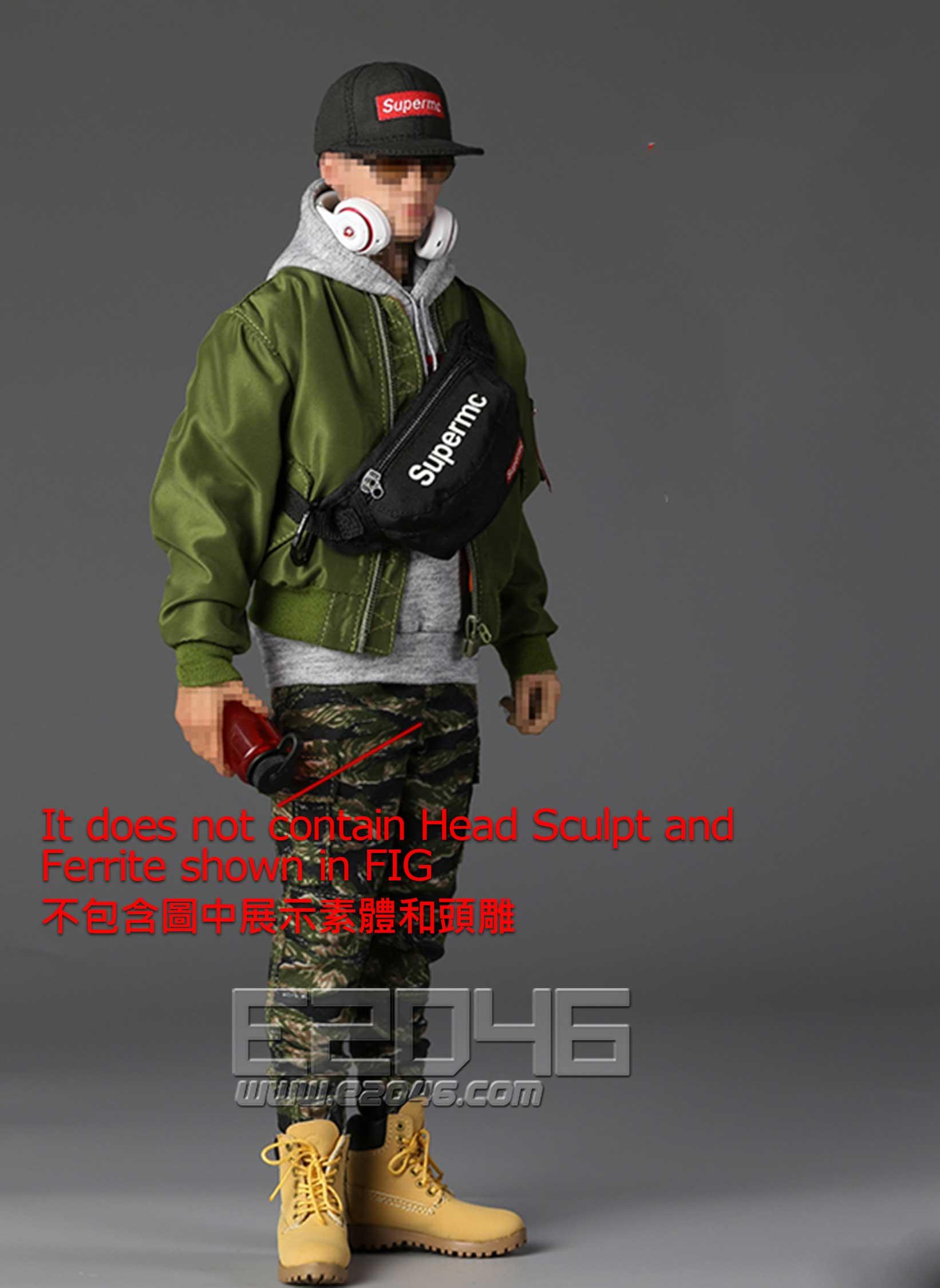 Street Style Flight Jacket Sets Mens (DOLL)