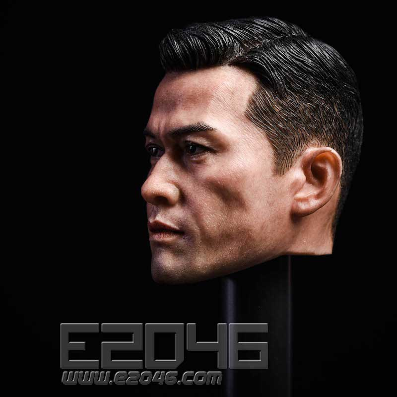 Asian male head carving (DOLL)