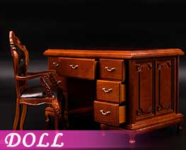 DL3843 1/6 19th Century Solid Wood Furniture Set (DOLL)