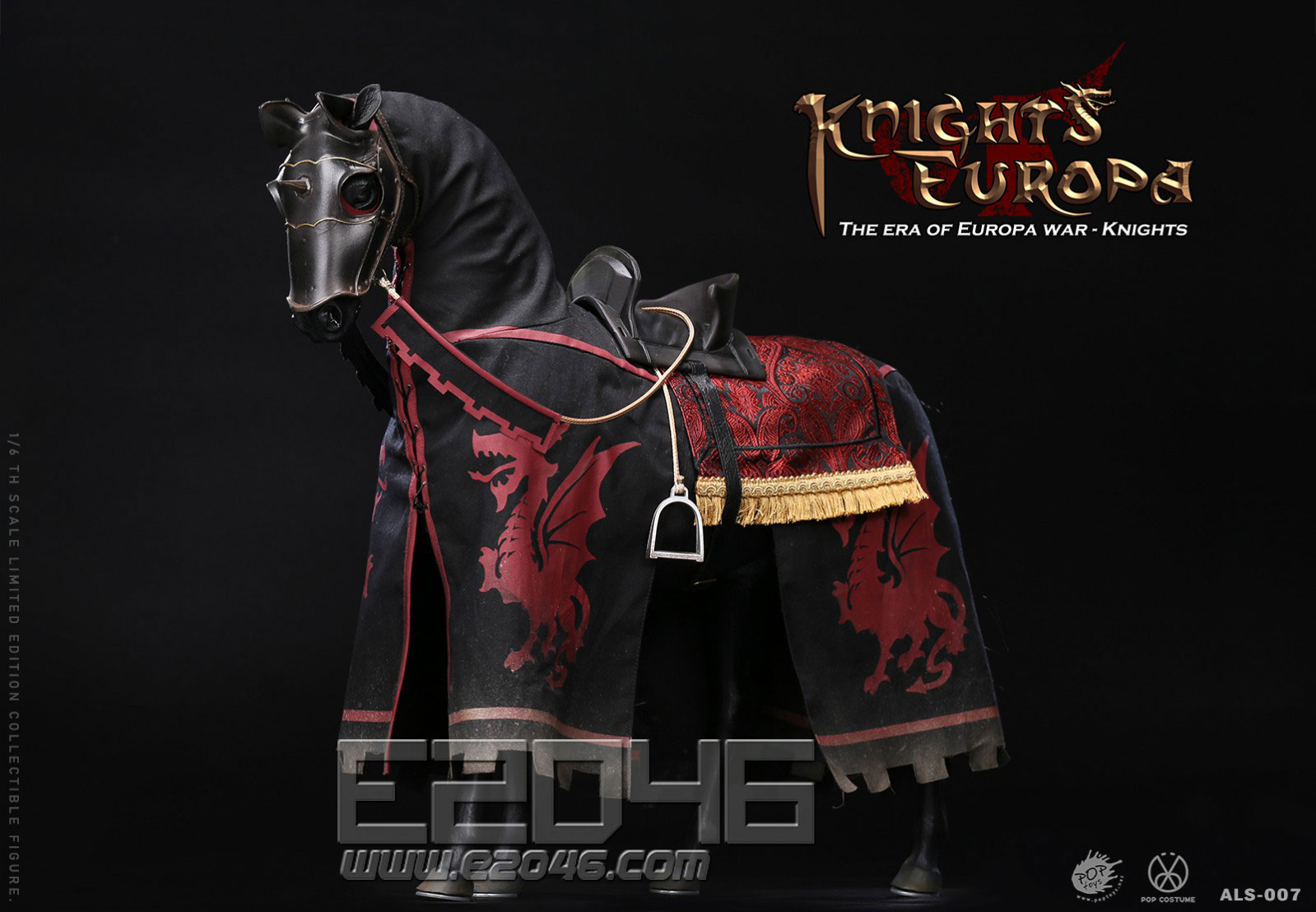 Black Armor Horse (DOLL)