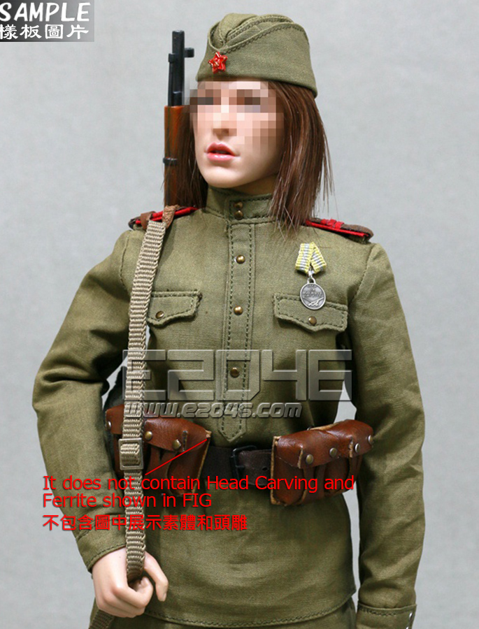 WWII The Soviets Female Soldier Sniper Set (Doll)