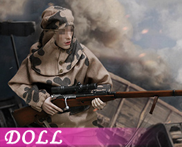 DL1361  WWII The Soviets Female Soldier Sniper Set (Doll)