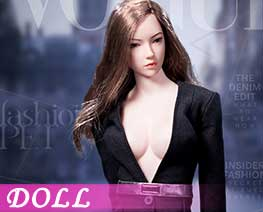 DL1649 1/6 Fashionable deep V-Necktrench coat suit B (DOLL)