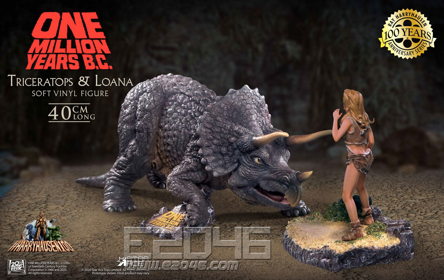 Triceratops And Female Savages (DOLL)