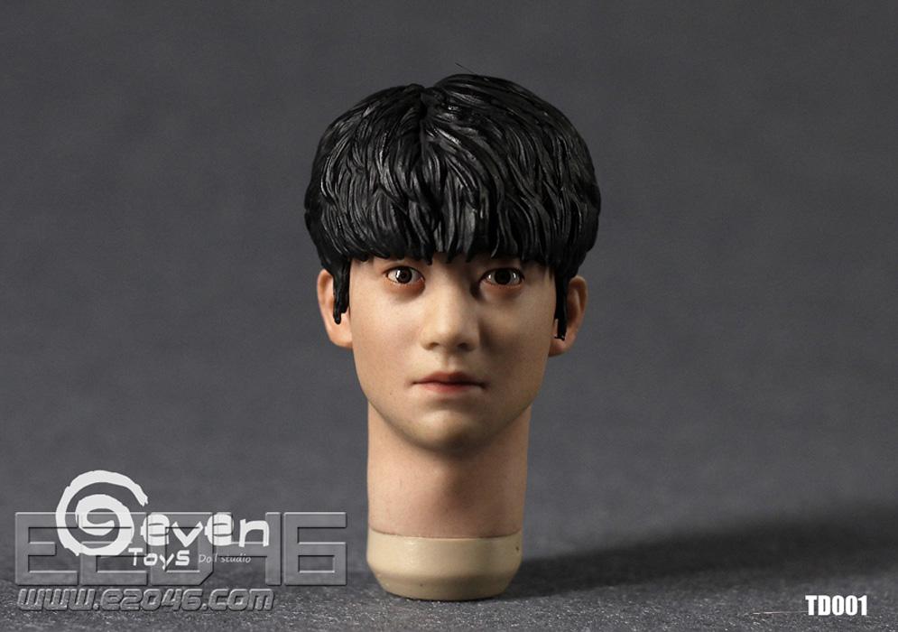 Asian Male Head Sculpture A (DOLL)