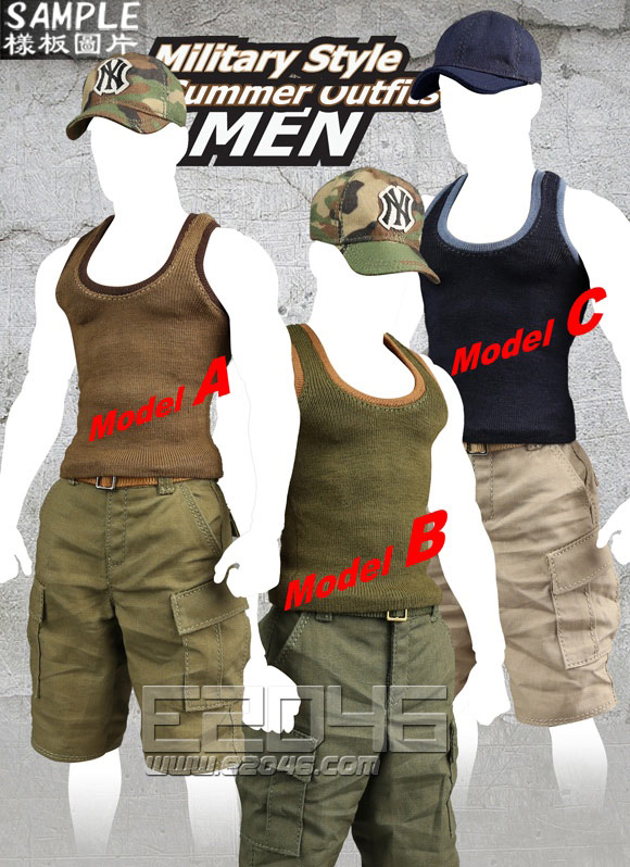 Military Style Summer Outfits  MEN C (Doll)