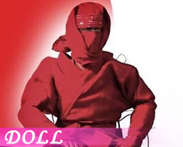 DL2753 1/6 Ninja Suit Red (DOLL)