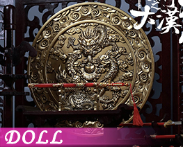 DL1861 1/6 Wooden dragon screen sceneries set (DOLL)