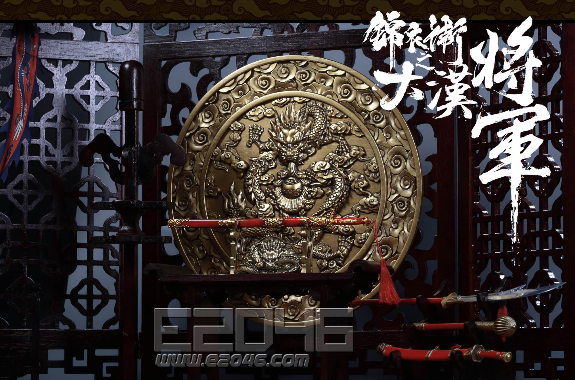 Wooden dragon screen sceneries set (DOLL)